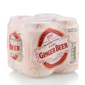 Tesco Nas Fiery Ginger Beer 330ml