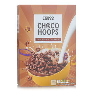 Tesco Choco Hoops Cereal 375g