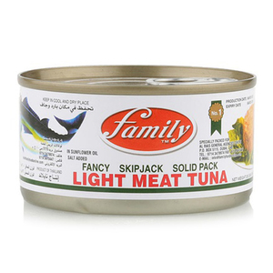 Family Light Meat Tuna Solid Eoe 200g
