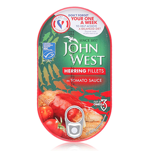 John West Herrings In Tomato 160g