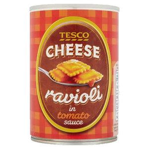 Tesco Cheese Ravioli In Tomato Sauce 410g