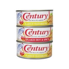 Century Tuna Hot & Spicy + Vegetable Oil 180g