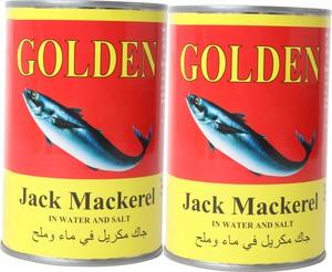 Golden Jack Mackerel Water In Salt 2x400g