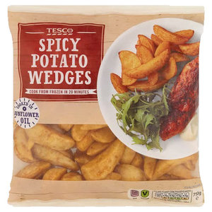 Tesco Spicy Potato Wedges 750g