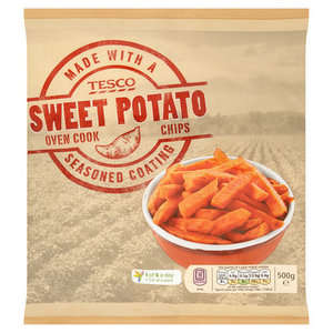 Tesco Sweet Potato Oven Chips 500g