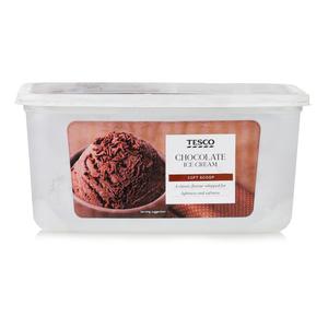 Tesco Soft Scoop Chocolate Ice Cream 2ltr