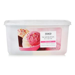 Tesco Soft Scoop Neapolitan Ice Cream 2ltr