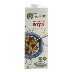 Tesco Organic Soya Longlife Milk 1L