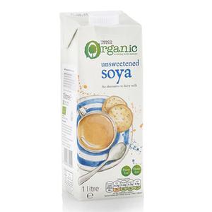 Tesco Organic Unsweet Soya Longlife Milk 1L