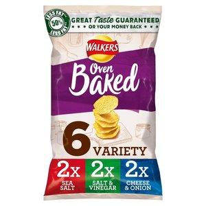 Walker Baked Variety Crisps 6x25g