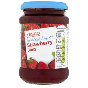 Tesco Strawberry Jam No Added Sugar 340g