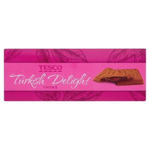 Tesco Choco Turkish Delight Thins 200g