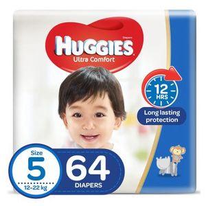 Huggies Ultra Comfort Baby Diapers Size 5 12-22 kg 64pcs