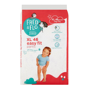 Tesco Fred & Flo Disposable Diaper Baby Pant Xl 46s
