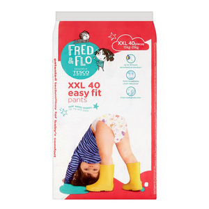 Tesco Fred & Flo Disposable Diaper Baby Pant Xxl 40s