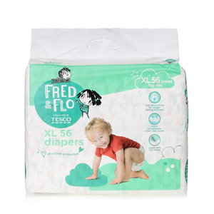 Tesco Fred & Flo Disposable Diaper Baby Tape Diaper Xl 56s