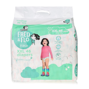 Tesco Fred & Flo Disposable Diaper Baby Tape Diaper Xxl 46s