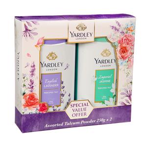 Yardley Talc Assorted 2x250g