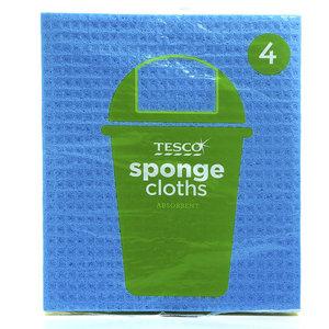 Tesco Sponge Cloths 4pack