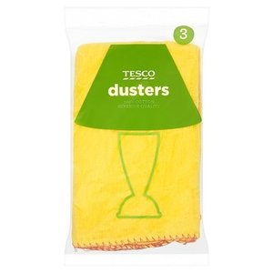Tesco Yellow Dusters 3pack