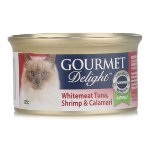 Gourmet Delight Cat Food Tuna Shrimp Calmari 85g