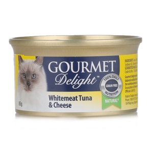 Gourmet Delight Cat Food White Meat Tuna & Cheese 85g