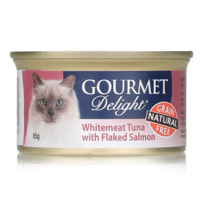 Gourmet Delight Cat Food White Meat Tuna & Salmon 85g