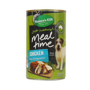 Natures Gift Dog Food  Rice Chicken Vegetables (Can) 700g