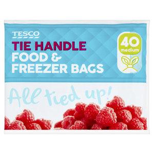 Tesco Handle Freezer Bags Medium 45pk