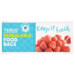 Tesco Resealable Food Storage Bags Small 25s