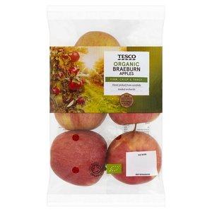 Tesco Braeburn Apples Organic 630g pkt
