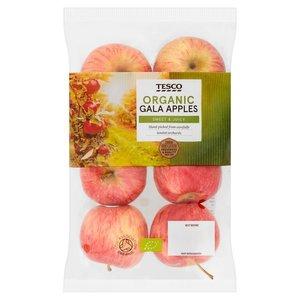 Tesco Gala Apples Organic 630g pkt
