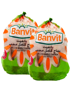 Banvit Whole Chicken Value Pack 2x900g