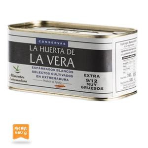 La Huerta De La Vera Very Thick White Asparagus Can 660g 9/12 Units