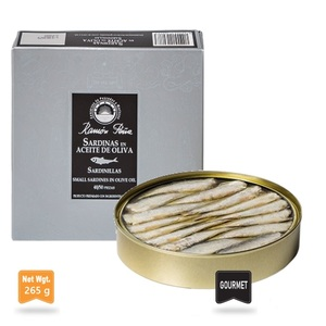 Pena Sardinillas in Olive Oil Can 265g 40-50 Units