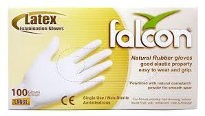 Falcon Latex Gloves Large 100s