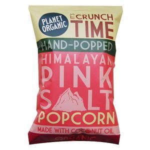 Planet Organic Himalayan Pink Salt Popped Popcorn Vegan Gluten Free 20g