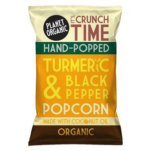 Planet Organic Turmeric & Black Pepper Popped Popcorn Vegan Gluten Free 20g