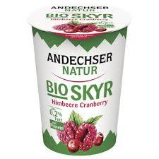Skyr Organic Yoghurt Raspberry Cranberry 400g