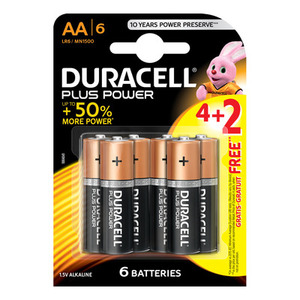 Duracell Battery AA 6s