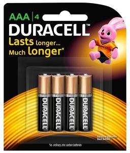 Duracell Battery AAA 4s