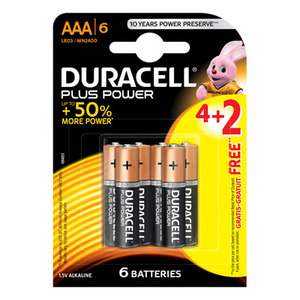 Duracell Battery AAA 6s
