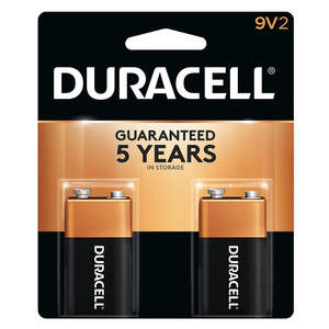 Duracell Battery Coppertop 9V 2s
