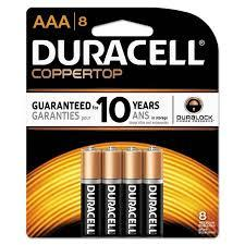 Duracell Battery AAA 8s