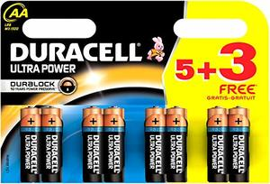 Duracell Battery Ultra AA 8s