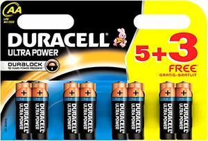 Duracell Battery Ultra AA 8s