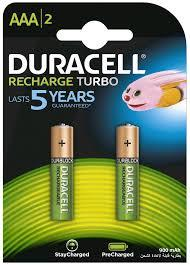 Duracell Battery Rechargeable AAA 2s