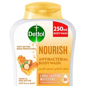 Dettol Nourish Showergel & Bodywash Honey & Shea Butter Fragrance 250ml