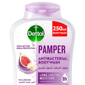 Dettol Pamper Showergel & Bodywash Fig & Orchid Fragrance 250ml