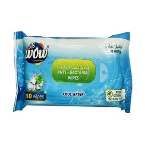WoW Antibacterial Wipes 10s